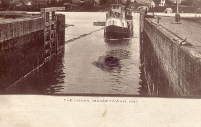 The Magnetawan Locks, circa 1906