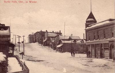Burk's Falls Main Street, circa 1920