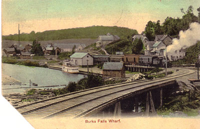 Train Leaving Burk's Falls, circa 1925