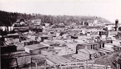 Lumberyard, Burk's Falls, circa 1950