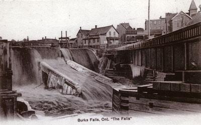 Half-Frozen Falls, Burk's Falls, circa 1900