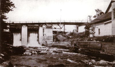 The Dam, Flume, and Galna Bridge Near Knight Lumber, circa 1931.