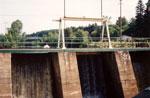 The Foot Bridge and Dam, Burk's Falls, circa 1978