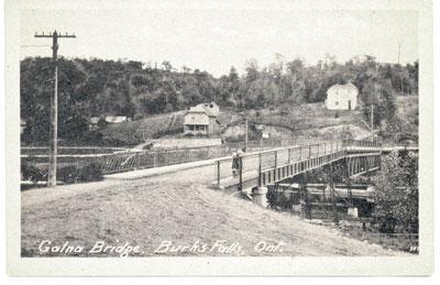 Postcard of Galna Bridge with Two Children, circa 1920