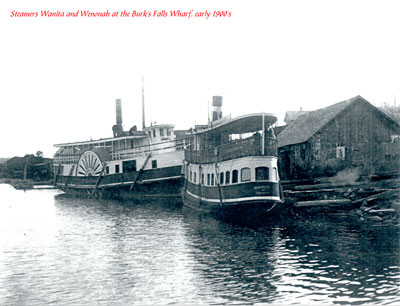 The Steamers Wanita and Wenonah at Dock, circa 1900