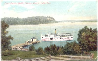 Geddes' Wharf, Lake Cecebe, Burk's Falls, circa 1920