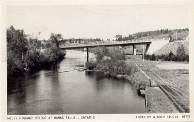 Highway 11 Bridge at Burk's Falls, circa 1940