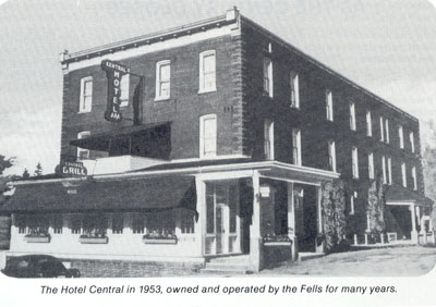 The Hotel Central, Burk's Falls, 1953