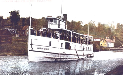 The Armour with its Deck Loaded with People, circa 1920