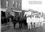 Burk's Falls Fire Brigade in Front of C. W. Coulter Dry Goods, circa 1920