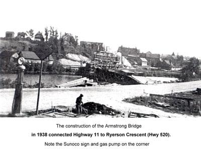 Construction of the Armstrong Bridge, circa 1930