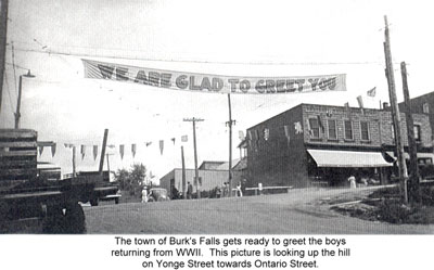 Banner Welcoming Soldiers Back from World War Two, circa 1945