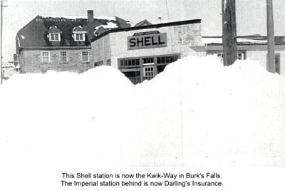 Shell Station Behind Snow Drifts, circa 1920