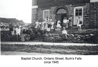 Baptist Church of Burk's Falls, circa 1945