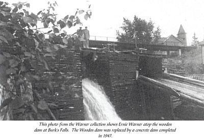 Wooden Dam at Burk's Falls, circa 1930