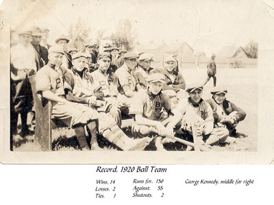 Burk's Falls Baseball Team, 1920