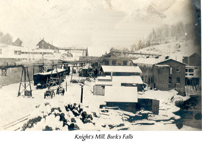 Knights' Lumber Mill in Winter, Burk's Falls, circa 1920