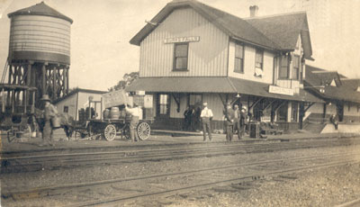 Cart at the Burk's Falls Railroad Station, circa 1930
