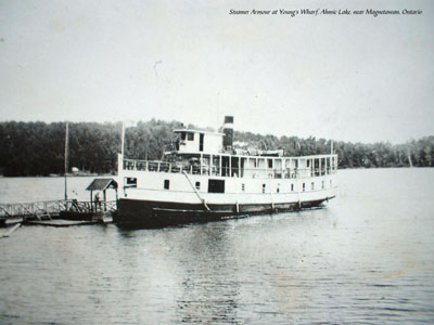 The Steamer Armour at Young's Wharf, circa 1930
