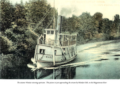 The Steamer Wanita Returning Upstream, circa 1920