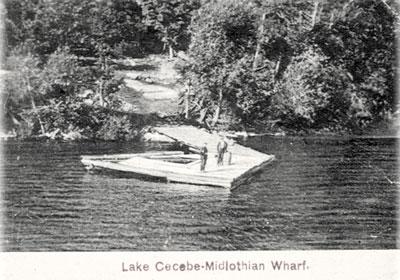 Lake Cecebe's Midlothian Wharf, circa 1920