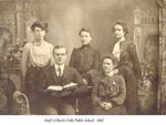 Staff of Burk's Falls Public School, 1902