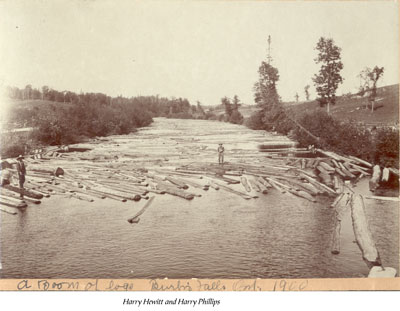 A Boom of Logs, Burk's Falls, 1900