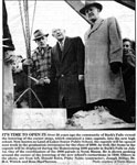 Newspaper Article on the Opening of Time Capsule from 1950 in Burk's Falls.