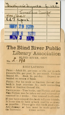Blind River Book Pocket with Card