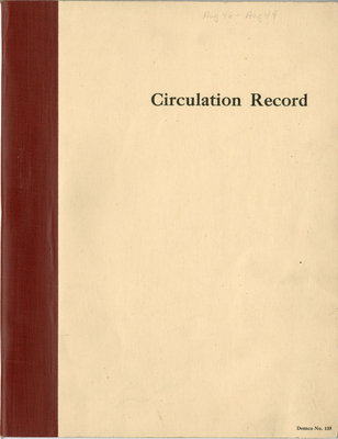 Blind River Public Library Circulation Records 1948 - 1949