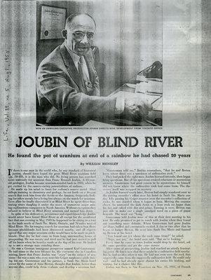 Joubin of Blind River, Life Magazine,Vol. 39, No.5, 1955