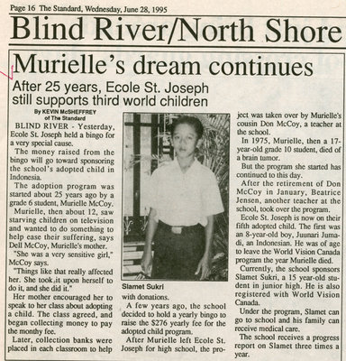 Muriel's Dream, Blind River, The Standard, 1995