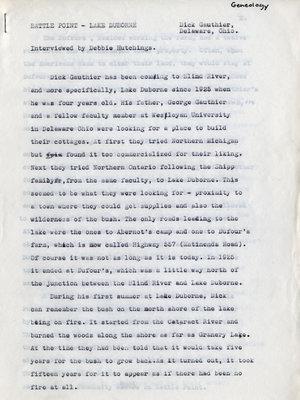 Battle Point, Lake Duborne Memories by Dick Gauthier, Blind River, Circa 1974