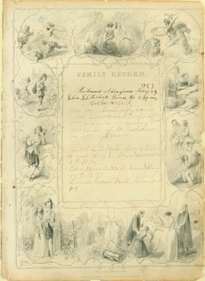 Bell Family Bible, Family Record, 1853-1897