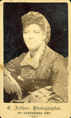 Photograph of Unidentified Woman by C. Arthur, Photographer, St. Catharines [n.d.]