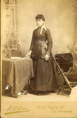 Photograph of Young Woman by R. F. Uren, Photographer, St. Catharines [n.d.]