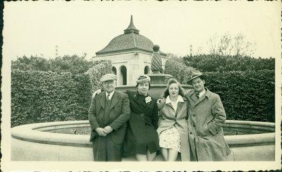 The Slomans: Albert, Josie, Shirley and Bert, 1942