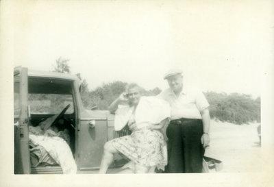 Josephine and Albert Sloman at the Beach [n.d.]