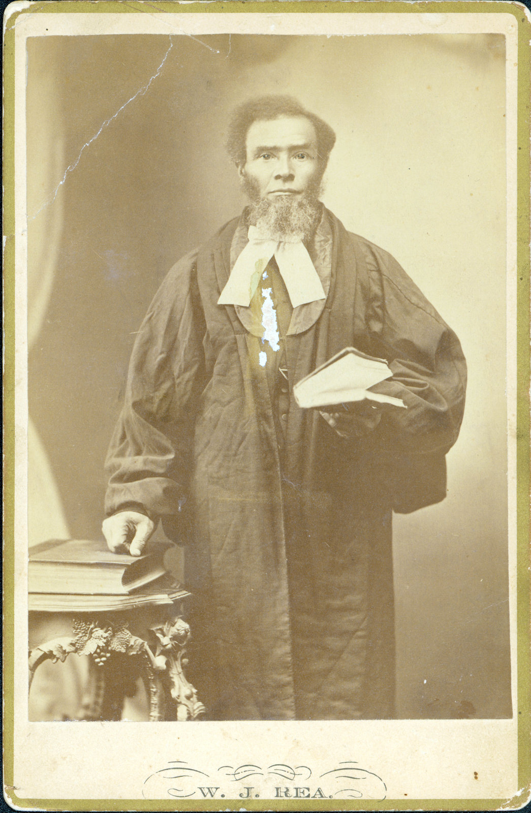 This man appears to be in official dress, possibly of a religious or legal nature. It is likely from the 1870s or 1880s. <br>Courtesy the Brock University James A. Gibson Special Collections & Archives.