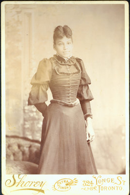 Cabinet Card of Young Woman Photographed by N. C. Shorey, of Toronto [n.d.]