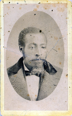 Small Cabinet Card of African American Man by John S. Thom, of Lucan, Ontario [n.d.]