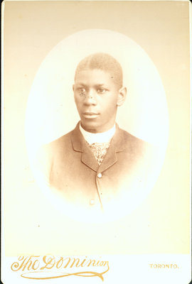 Cabinet Card of Young African Canadian  by The Dominion Photo Studio, Toronto [n.d.]
