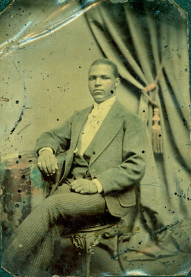 Tintype of Seated African American Gentleman [n.d.]