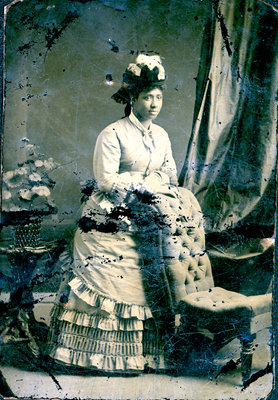 Tintype of African American Woman with Ruffled Dress [n.d.]