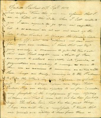 John Bentley letter, Sept. 26, 1813.