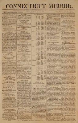 Connecticut Mirror, 4 January 1813, vol. 4, no. 27