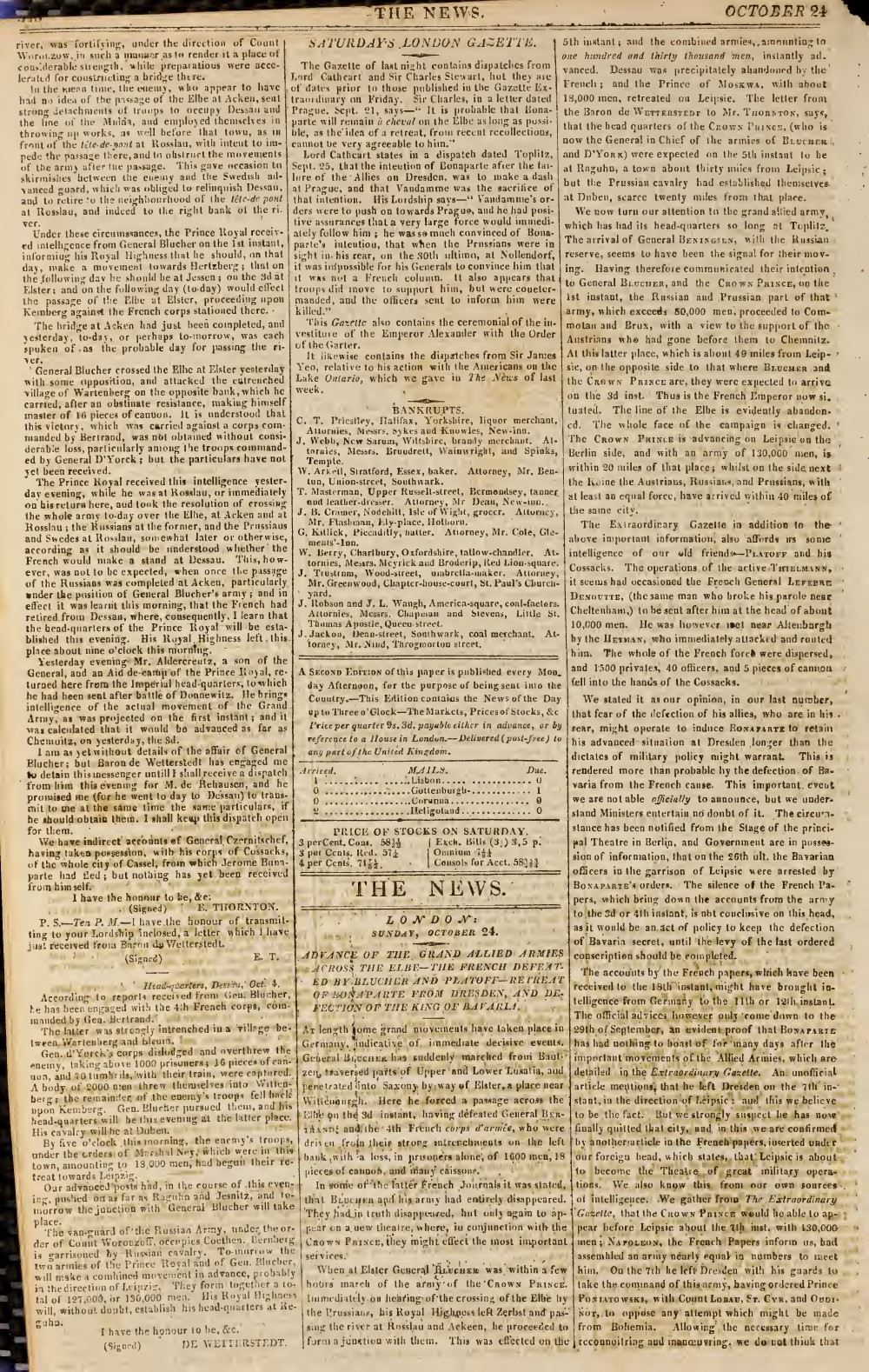 The News, 24 October 1813, No. 433