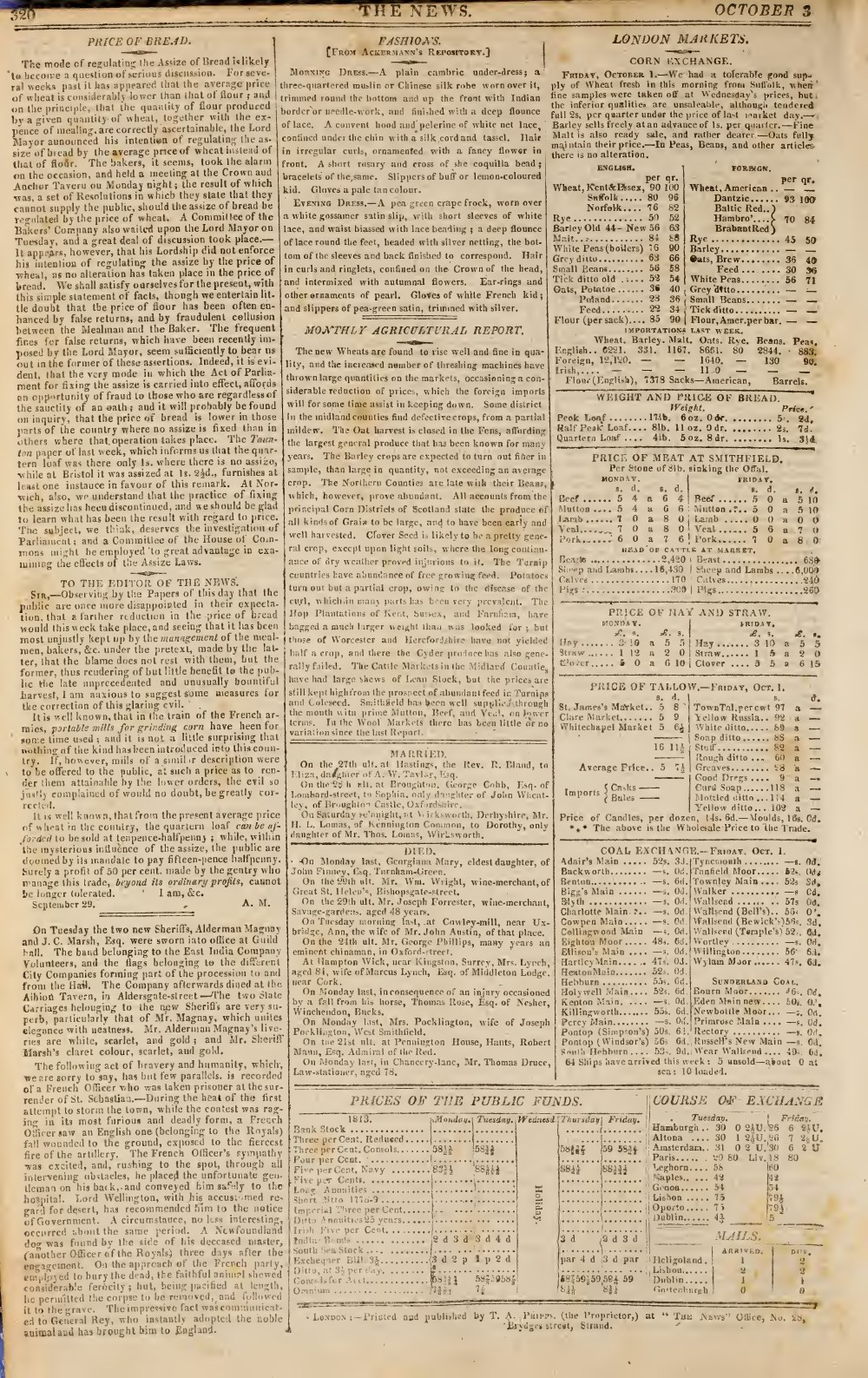 The News, 3 October 1813, No. 431
