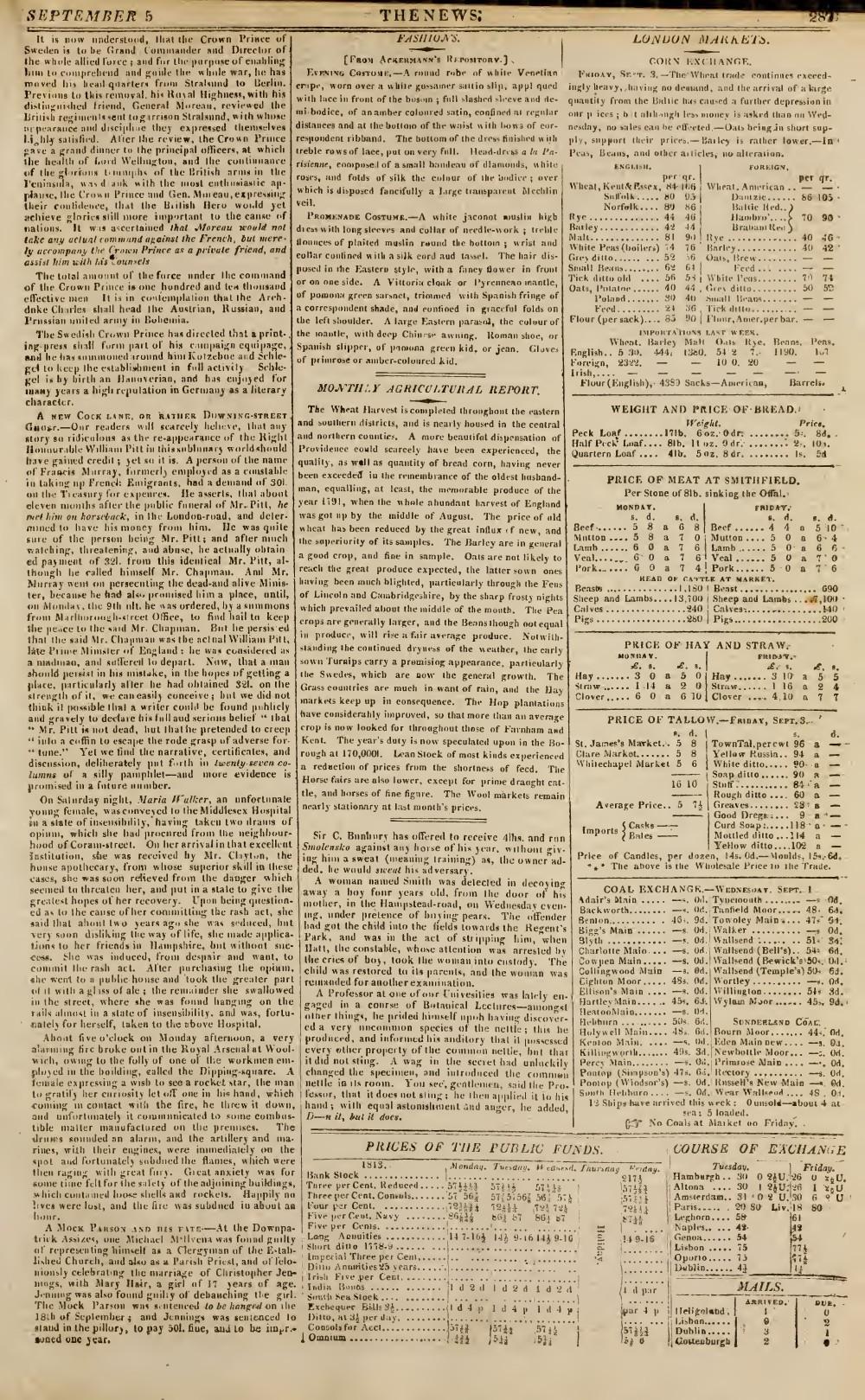 The News, 5 September 1813, No. 429