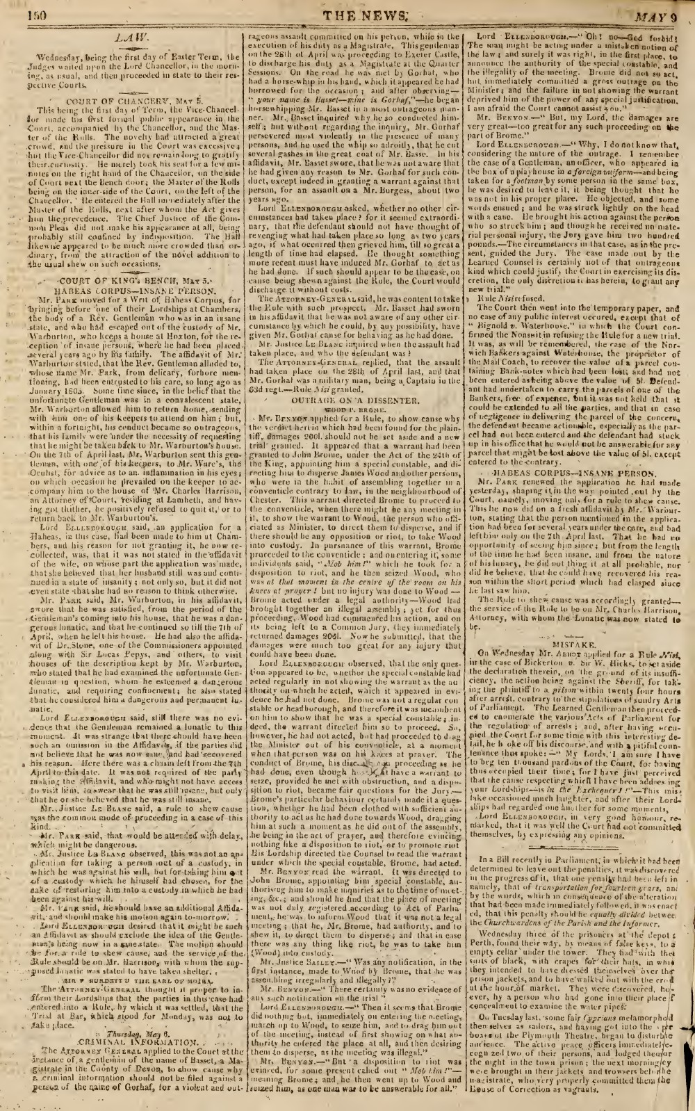 The News, 9 May 1813, No. 412